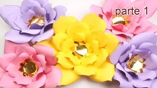 Como Hacer Flores Gigantes De Papel Faciles Y Bonitas Parte 2 De 2