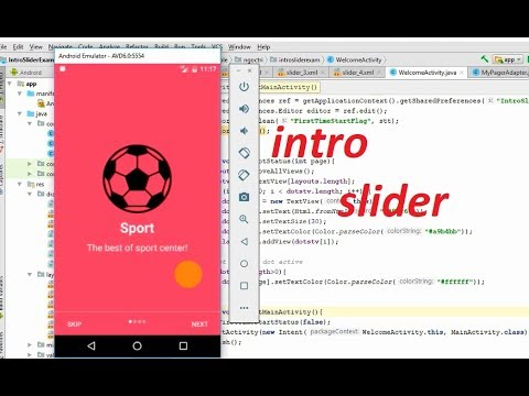 Android tutorial: How To Add Intro Slider For Android Application