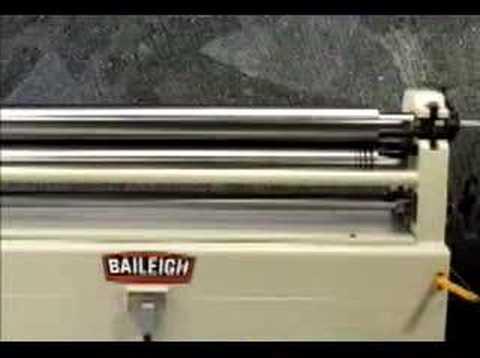 Baileigh Slip and Plate Rolls, Sheet Metal Roller, Rolling Machine, Slip Roll