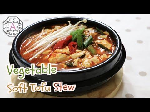 【Korean Food】  Vegetable Extra Soft Tofu Stew a.k.a. YaChae Sundubu Jjigae (야채 순두부 찌개)