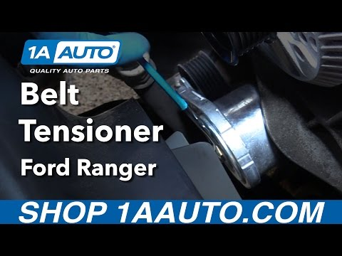How to Install Replace Belt Tensioner 2001-11 Ford Ranger V6 4.0L