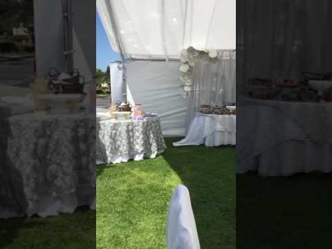 Wedding Photo Booth Backdrop Royal Blue,Silver and White