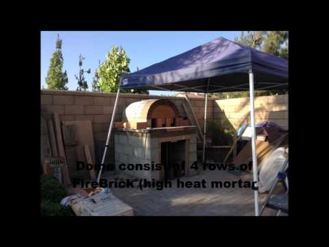 Backyard FireBrick Wood Burning Pizza Oven DIY