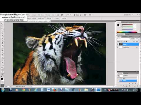 How to combine to pictures on Photoshop CS4 (HD)
