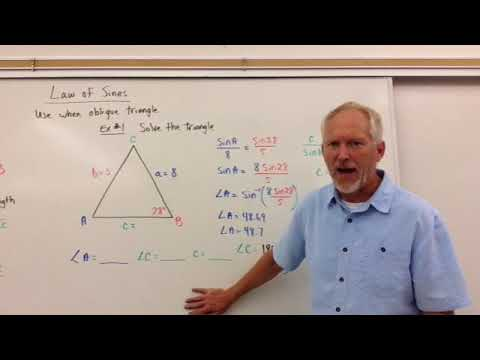 Using the Law of Sines to Solve Triangles