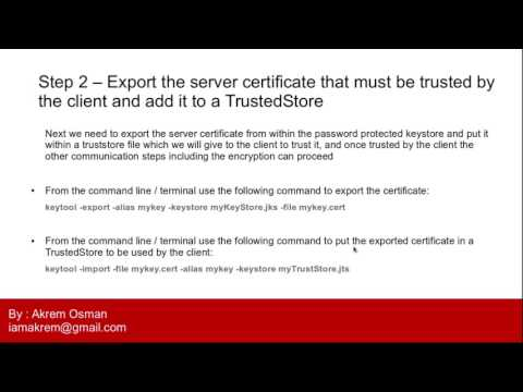 SSL with Java example using simple client server echo app