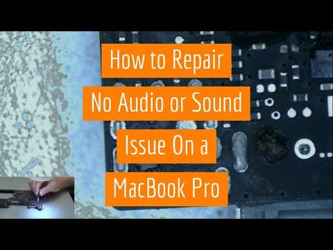 Macbook Pro No Audio or Sound Repair on Board 820-3115