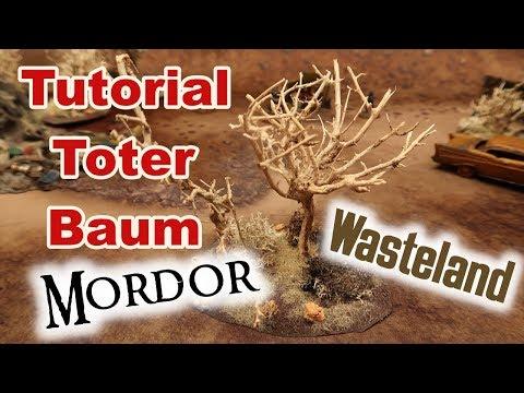 Tutorial - Toter Baum bauen (Geländebau / Modellbau / Tabletop / Fallout Wasteland Warfare / Mordor)