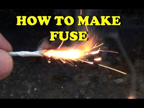 How to make fuse for firecracker, fireworks and rocket at home