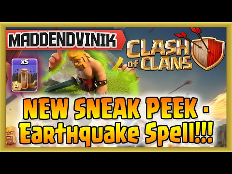 Clash of Clans - NEW SNEAK PEEK - Earthquake Spell!!!