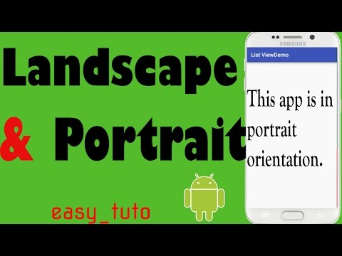 Landscape or Portrait Mode | Android Studio Tutorial (Beginners) HD | All About Android