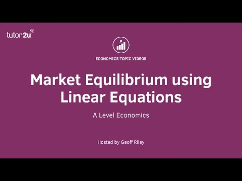 Linear Equations and Market Equilibrium