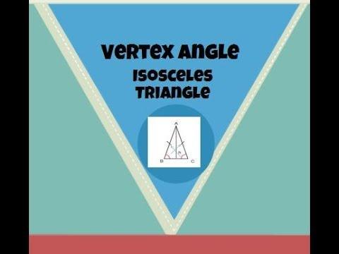 Vertex angle of an Isosceles Triangle-Geometry Help