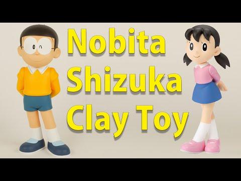 Play With Clay - How To Make Nobita & Shizuka - Claytohe