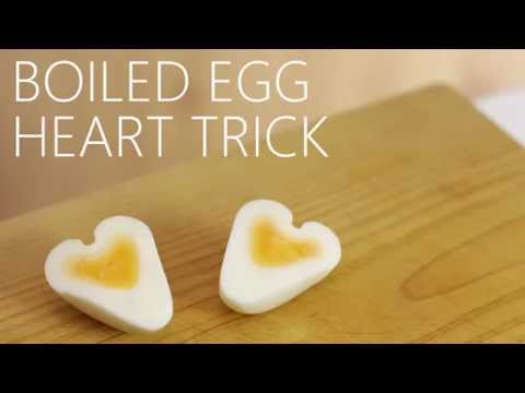Neat Boiled Heart Shaped Egg