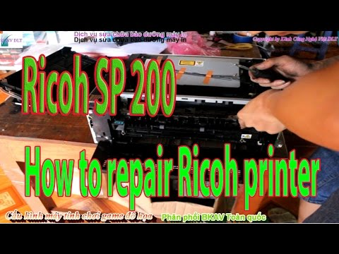 How to repair Ricoh printer installation instructions Sp