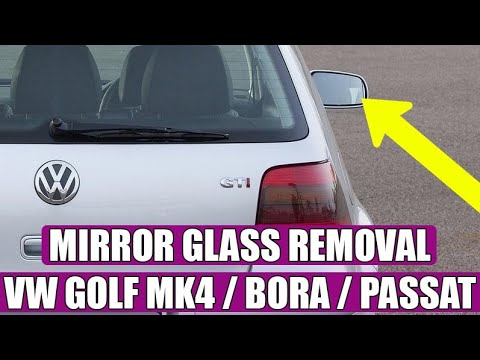 Mirror glass removal / changing on a VW Golf Mk4, in 3 steps