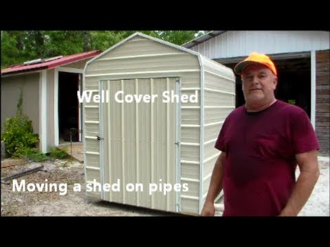 Moving a shed on pipes