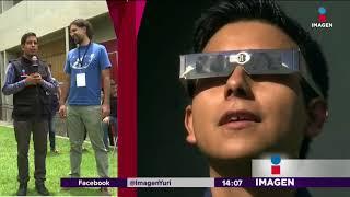 Viendo el eclipse desde Astronomía de la UNAM   Noticias con Yuriria Sierra