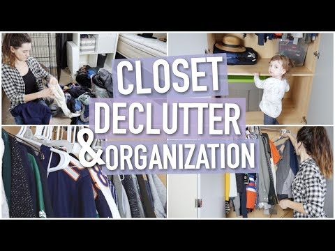 ORGANIZE AND DECLUTTER WITH ME! || CLOSET DECLUTTERING || SPRING CLEANING EPISODE 3