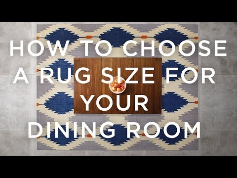 How To Choose A Rug Size For Your Dining Room