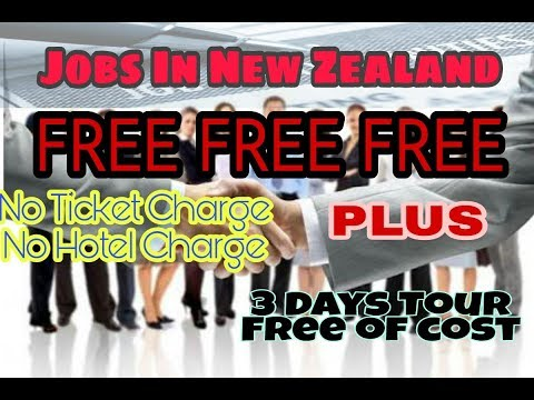 Jobs in New Zealand Wellington free interview,up and down ticket 3 day tour absolutely free....