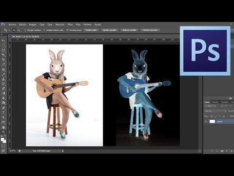 Invert color, put image in negative, Photoshop CS6 - Quick Tutorial