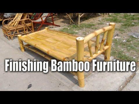 Finishing Bamboo Furniture Handcrafted Bed Chris Filipino Craftsman