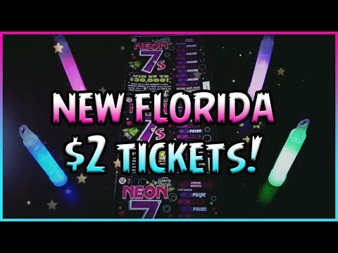 NEW FLORIDA TICKETS!! (10) $2 Neon 7's 💰 Florida Lottery Scratchers