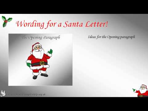 How to write a Santa letter ***