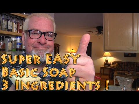 Super Easy Basic Soap Only 3 Ingredients Must know Homestead Skills