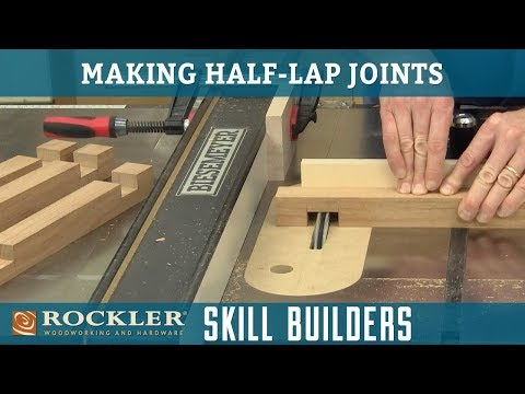 How to Cut Half-Lap Joints with a Table Saw | Rockler Skill Builders