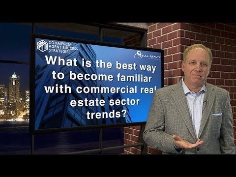 What is the best way to become familiar with commercial real estate sector trends?