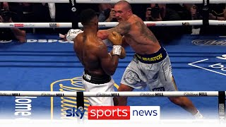 Oleksandr Usyk beats Anthony Joshua by unanimous decision to become the unified heavyweight champion