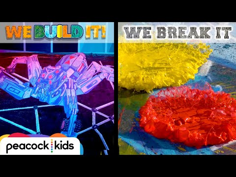 3D Chalk Art vs. Swirling Paint Destroyer | WE BUILD IT WE BREAK IT