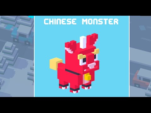 How to Unlock CHINESE MONSTER (Crossy Road)