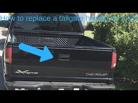 How to replace a tailgate handle on a s10