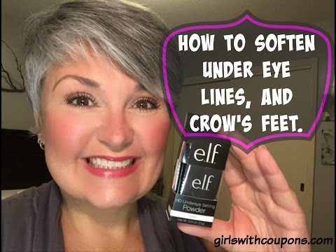 How to soften under eye lines, and crow's feet.