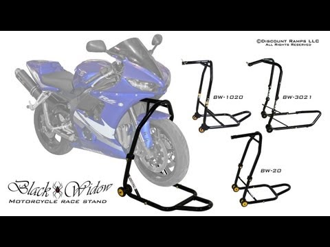 Black Widow Motorcycle Stem Lift Stands