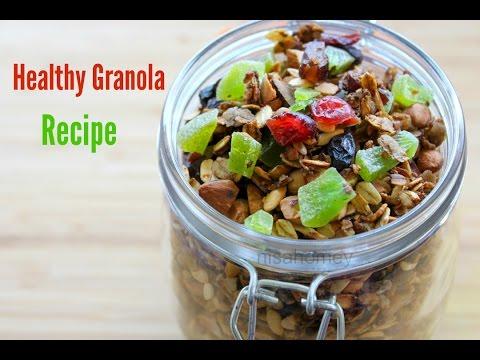 Homemade Granola Recipe - Healthy Granola For Weight Loss - Healthy Weight Loss Snack Recipe/Ideas