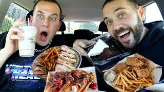 FAMOUS DINER FOOD MUKBANG, FRIES, CHICKEN, FRENCH TOAST with CHRIS KLEMENS!!