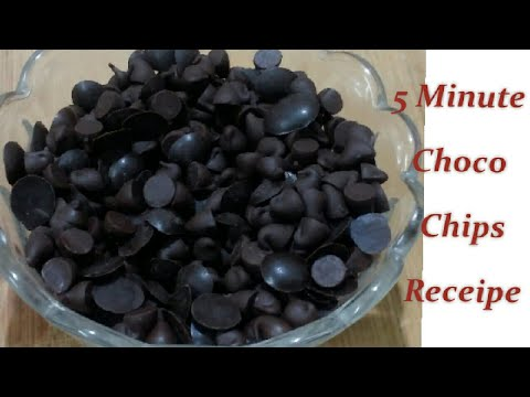 How To Make Choco Chips At Home / 5 Minute Choco Chips Receipe