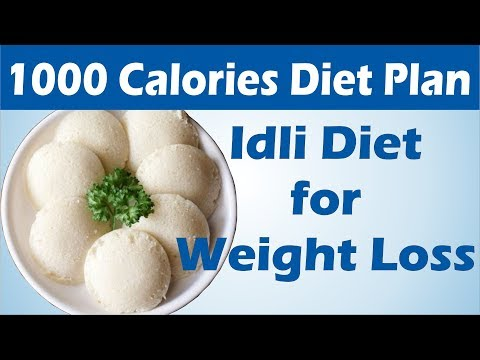 How To Lose Weight Fast - 1Kg in 1 Day | 1000 Calories Idli Diet Plan to To Lose Weight Fast