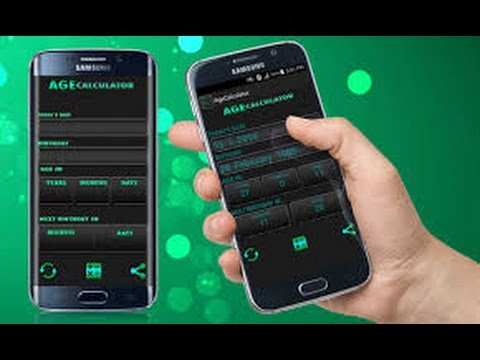 how to calculate your age in android phone in a second    android age calculator