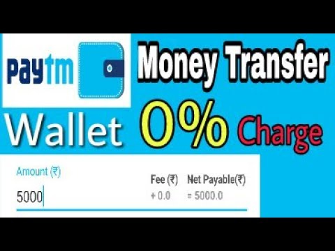 Paytm Wallet To bank transfer   0% Charge