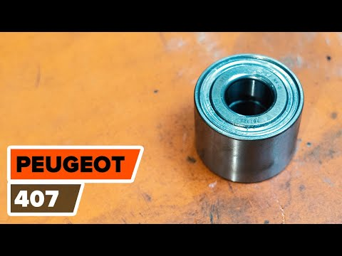 How to replace a rear wheel bearing on PEUGEOT 407 TUTORIAL | AUTODOC