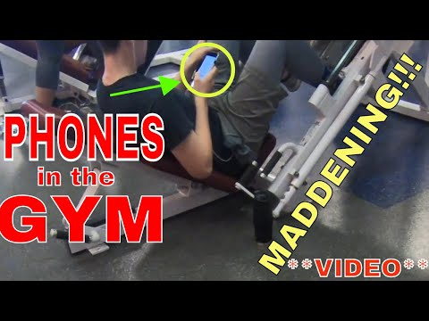 Phones in the GYM *VIDEO* Out of Control!