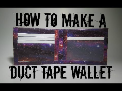 How to Make a Duct Tape Wallet for Beginners!! (Bi-Fold) EASY!