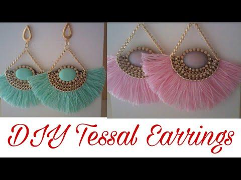 DIY tassel Earrings    Handmade Silk thread Tassel Earrings    How to Make Tassels Earrings at Home