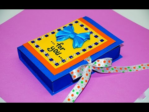 DIY paper crafts idea - gift box making with paper easy   Gift box making   DIY box gift   Julia DIY